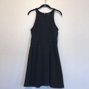 Black horizontal ribbed mossimo dress